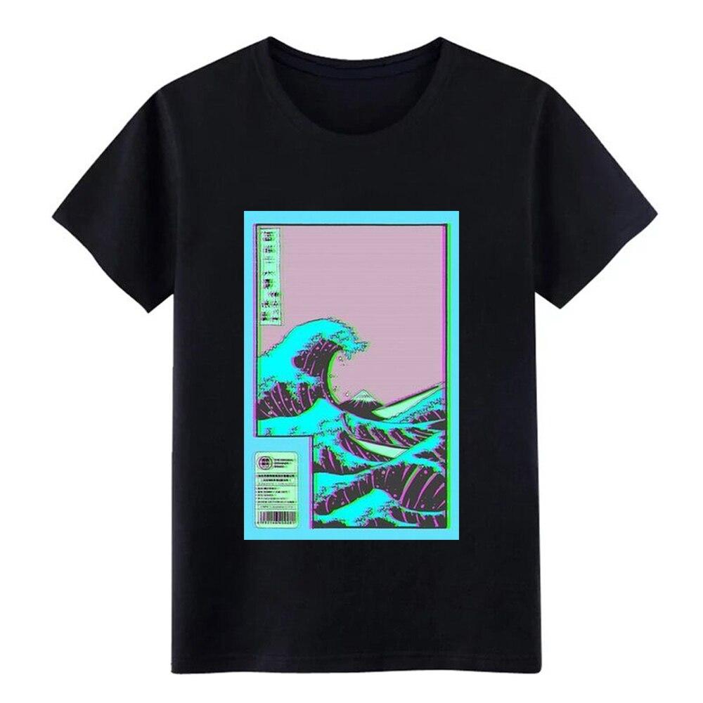 Vaporwave Vaporwave Wave T Shirt Printed Cotton Plus Size 3xl Leisure Cute Funny Casual Summer Vintage Shirt