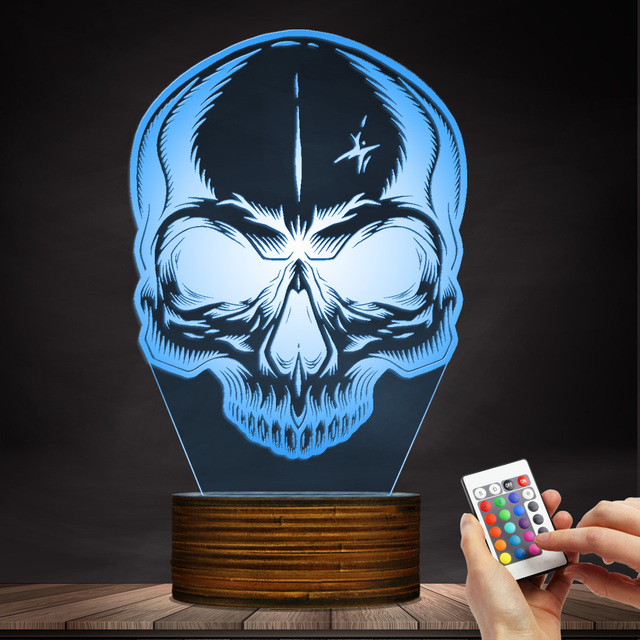3D LED LAMP SKULL HEAD