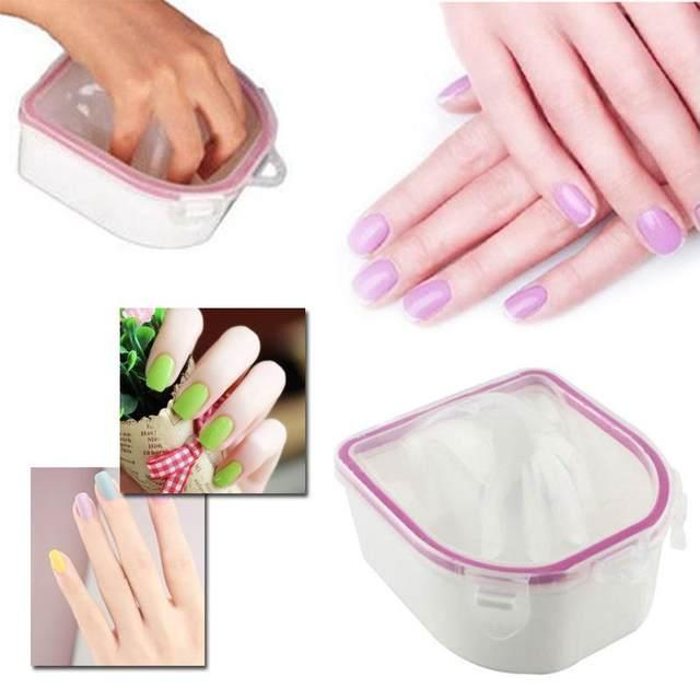 Online Shop Bubble Bowl Nail Art Tool Double Deck Square Finger Spa