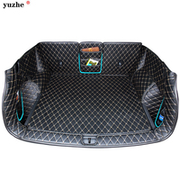 Custom Car Trunk Mat for Car Trunk Mats For Volkswagen vw Golf Polo Tiguan Beetle Seats Waterproof Boot Carpets car accessories