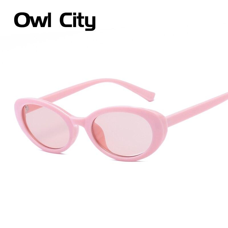 Owl City Óculos De Sol Mulheres Tons de Rosa Oval Óculos de Sol Óculos De  Sol 2237fa96de