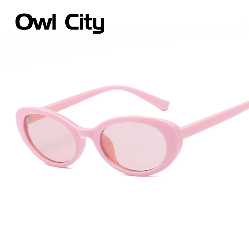 Sunglasses Women Oval Pink Sun Glasses Vintage Womens Sunglass Shades Small Round Brand Designer Retro Womens Eyewear UV400