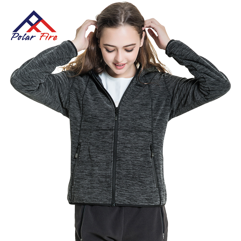 Polar Fire fall and winter outdoors Fleece women thick warm jacket Cardigan