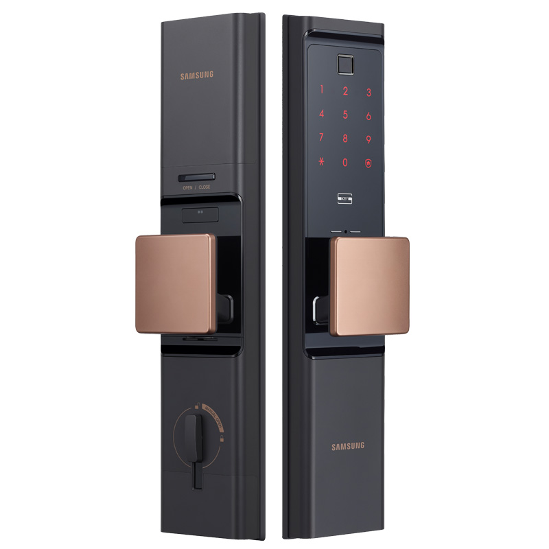 Image 2 - SAMSUNG отпечатков пальцев цифровой Wifi дверной замок много Keyless SHP DR708/SHP DR717 английский Verion Eurp Moritse-in Электрический замок from Безопасность и защита