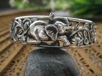 King Jewelry Sterling Silver Bracelet S925 sterling silver jewelry wholesale silver jewelry auspicious female elephant