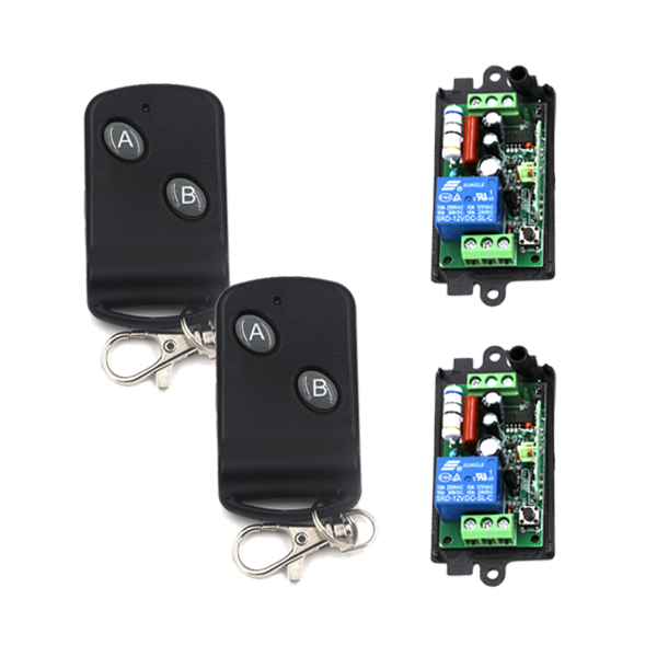 315MHz 1CH 1 Channel RF Relay Learning Code Wireless Remote Control Switch AC 110V 220V 10A 2CH Transmitter SKU: 5407