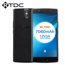 DOOGEE BL7000 7060mAh 12V2A Quick Charge 5.5 FHD MTK6750T Octa Core 4GB 64GB Smartphone Dual Kamera android 7,0 Handy