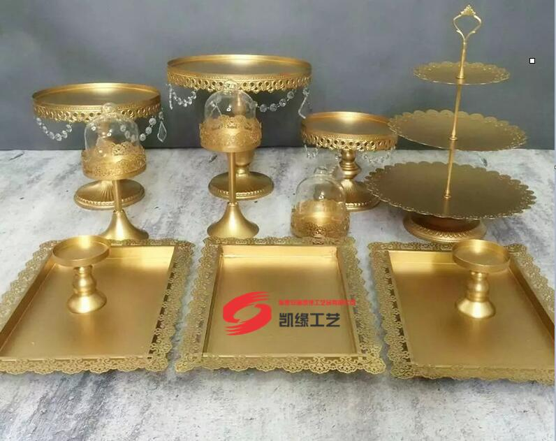 DHL set van 12 stuks gouden taart staan bruiloft cupcake stand - Feestversiering en feestartikelen - Foto 4