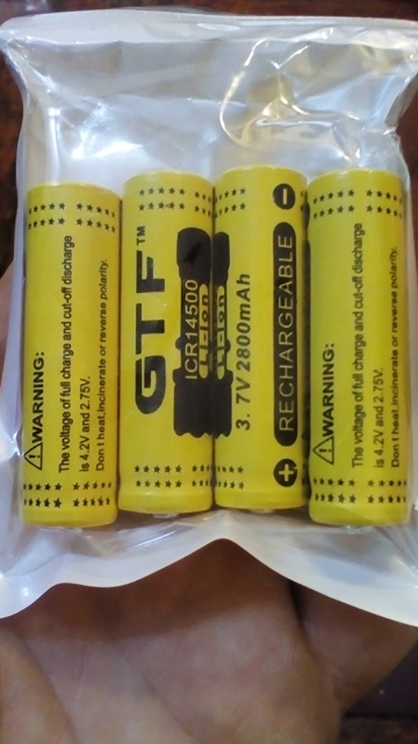 Image 5 - 20 шт GTF 3,7 V 2800mah 14500 литий ионная аккумуляторная батарея Аккумулятор для светодиодного фонарика портативные устройства Инструменты освещающие инструменты батарея-in Подзаряжаемые батареи from Бытовая электроника