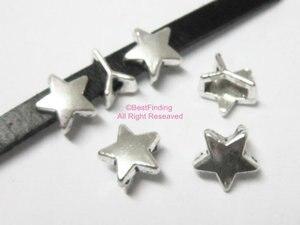 Плоские кожаные слайдеры 5x2 мм в форме звезды слайдеры 5 мм кожаная фурнитура
