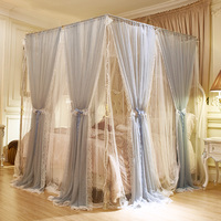 Princess style Bed Canopy Bedcover Mosquito Net high quality Curtain Bedding Contain frame lace Tent Room Decor