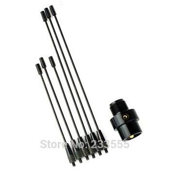 2pcs New Black RE-02 Mobile Antenna Ground UHF-F Female 10-1300MHz for Car Radio YAESU Moto rola Ke nwood Ic om line art