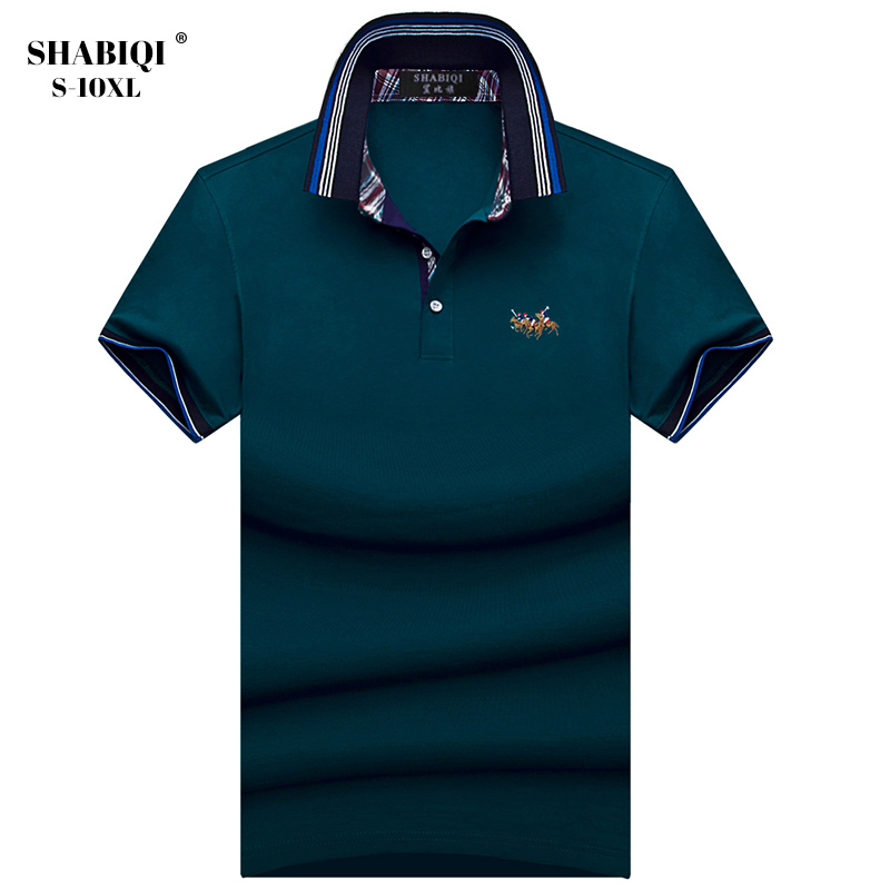 SHABIQI New Brand Men shirt Men   Polo   Shirt Men Short Sleeve Cotton Shirt Breathable Casual   Polo   Shirt Plus Size 5XL 6XL 7XL 8XL