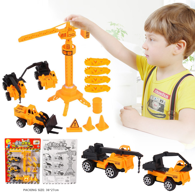 13Pcs/Set Engineering Series Truck Toys Pull Back Simulation Children Gifts Fun