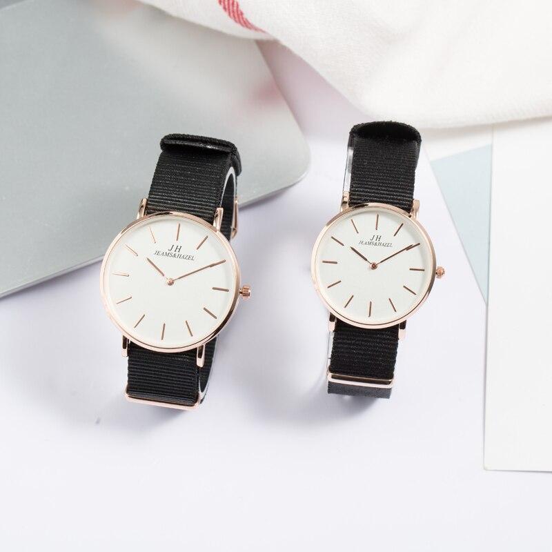 JEAMS&HAZEL  Men Women Nato Lovers Watch Branded Nylon Couple Watches  Fabric Belt