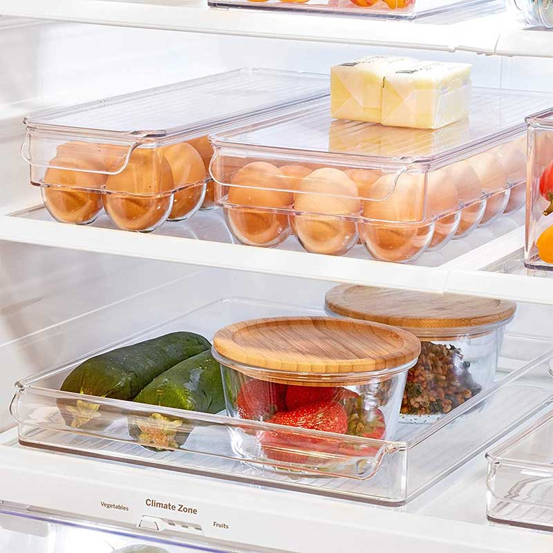 Image 5 - Kitchen  Racks & Holders 14/21 Grid Egg Box Food Container Organizer Boxes for Storage Double Layer Multifunctional Egg Crisper-in Racks & Holders from Home & Garden