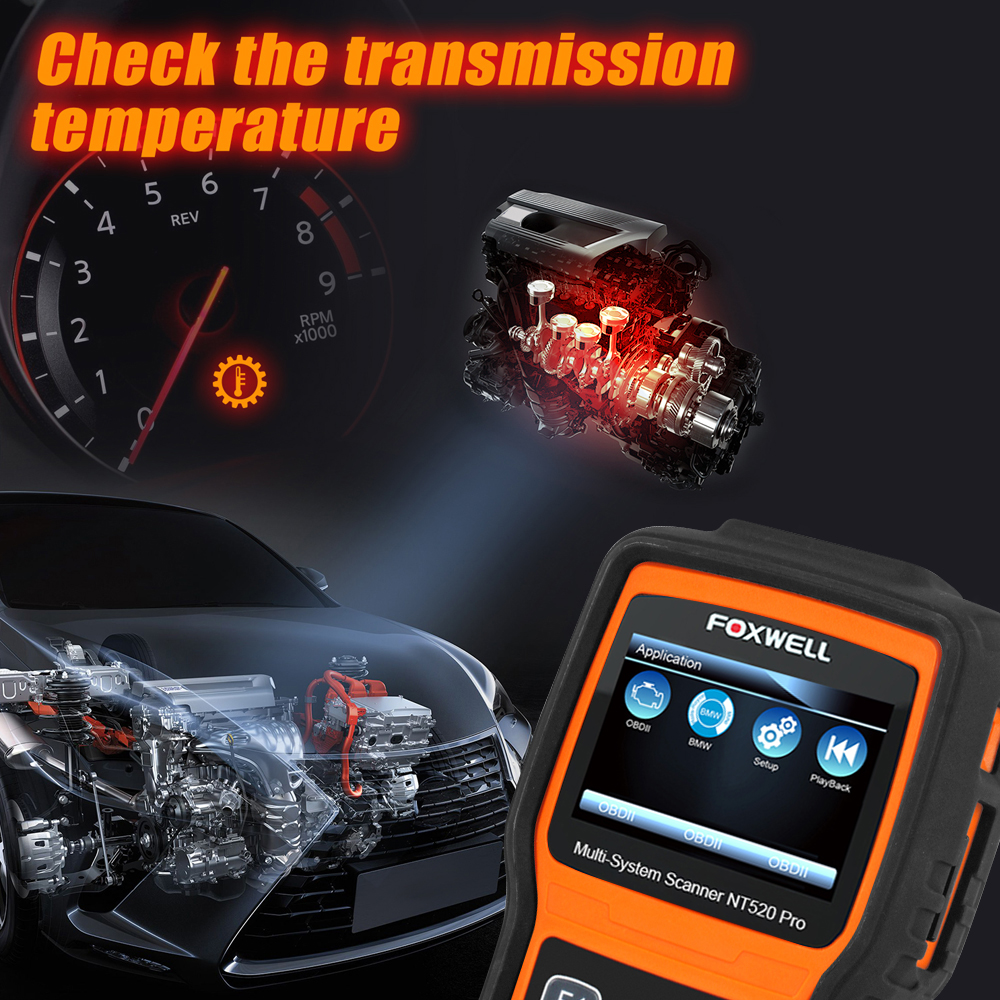 Image 3 - Foxwell NT520 Pro Auto Diagnostic Tool ABS Airbag SAS Transmission DPF Battery Registration Full System Code Reader OBD2 Scanner on