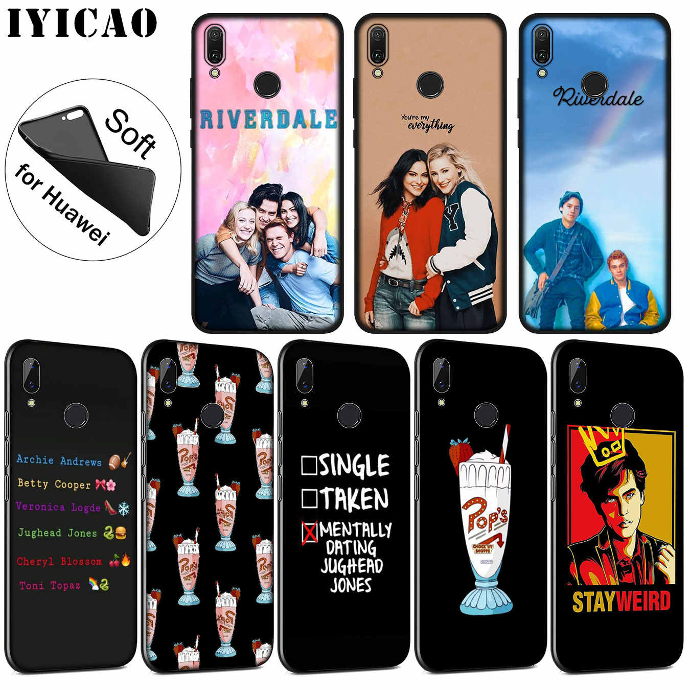 IYICAO Riverdale Soft Silicone Phone Case for Huawei P30 P20 Pro P10 P9 P8 Lite Mini 2017 2016 P smart Z 2019 TPU Black Cover