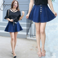 2018 Summer New Product Plus Big Size Cowboy Half body Girls Skirts