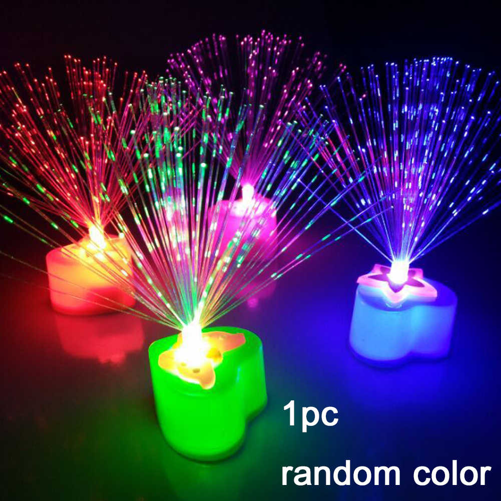 Party Wedding Living Room Room Decor UV Color Random Plastic Chrismas Decoration Bedroom Garden Holiday Lamp Lighting Love Shape