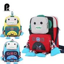 440a206b01a7 3D Robot Kid Backpack Mini Schoolbag Kindergarten Backpack Lovely Kid  Backpack for Boys Girls Mochila Infantil