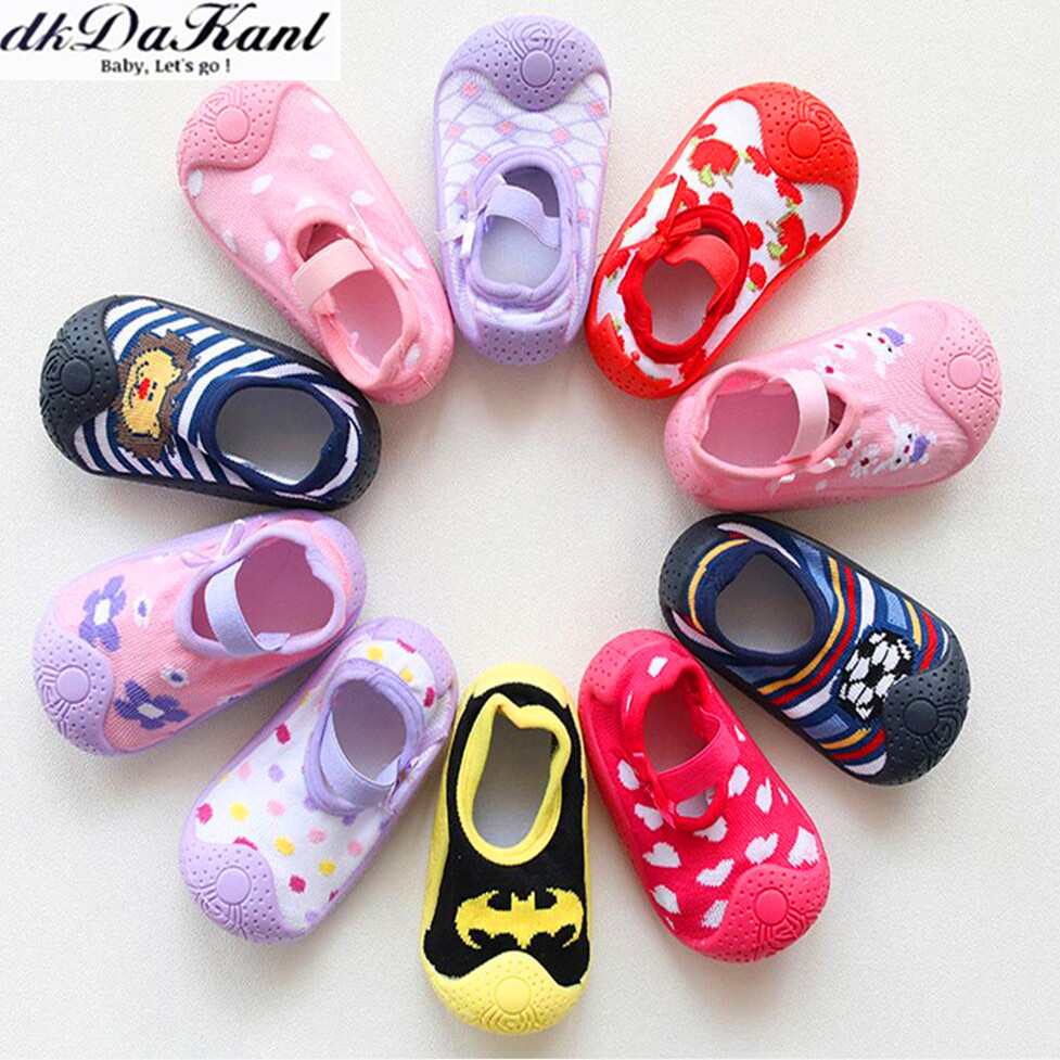 DkDaKanl Newborn Boy Girl Non Skid Socks Baby Boys Anti-skid Socks Baby Socks With Rubber Soles With Grips R