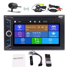 Double 2 Din Car font b Radio b font Stereo DVD Player Backup Camera 6 2