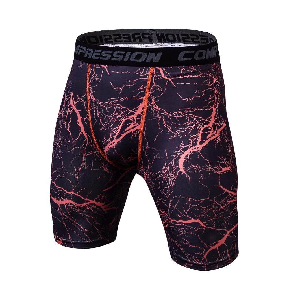 Fashion Fitness Compression Shorts Men Solid High Elasticity Skinny Base Layer Short Pants MMA Crossfit Bodybuilding Men Shorts