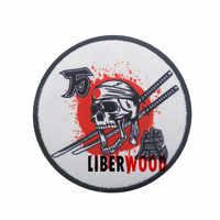 Parche de espadas con cráneo de Japón, Sol Rojo, Kamikaze, emblema militar del ejército, insignias tácticas bordadas