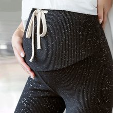 Spring Autumn Drawstring High Waist Galaxy Maternity Leggings for Pregnant Women Doll Pregnancy Leggings Pants Maternity Clothes(China)