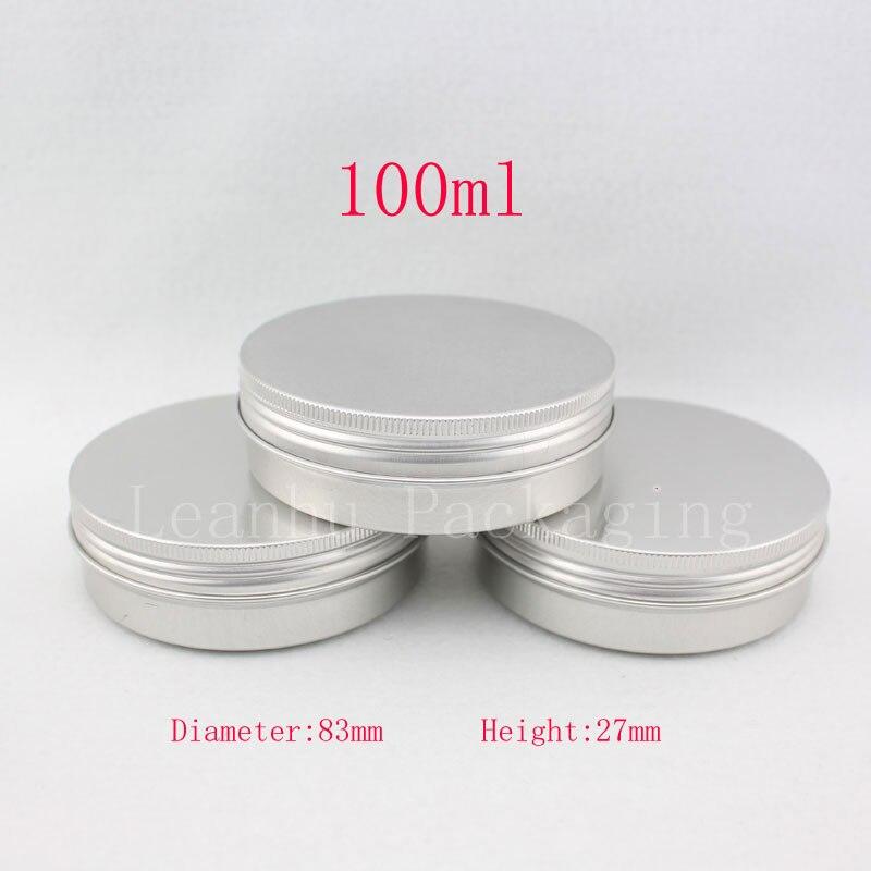 100g de aluminio vacía (metal) caja de ungüento 100 mL aluminio ...