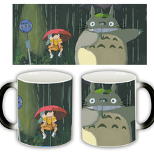 Useber New Anime Style Lovely Style  Miyazaki  Totoro  A Grade Ceramic Cup Discoloration Mugs Rain