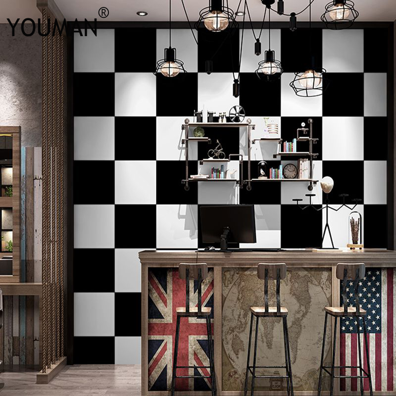 Modern Emboss Wallpaper High Quality Geometric PVC&Vinyl Waterproof Wallpaper For Living Room Background Wall paper Black White