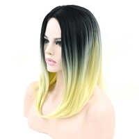 Soowee короткие синтетические волосы блонд темное Омбре серые волосы вечерние парики для женщин Боб прямые волосы косплей парики аксессуары д...