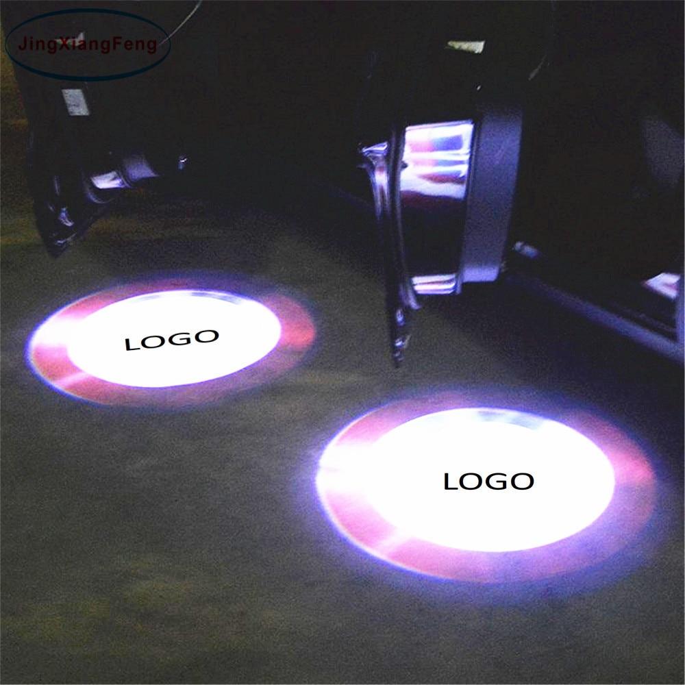 JingXiangFeng 2PCs LED Car door welcome light Case For Hyundai Led Logo Light courtesy led car laser projector Logo For Mopar