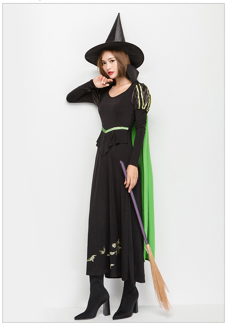 8a9f6966931 Wizards costume Halloween Party Women Witch Costume Sexy Fancy magician  Performances Dress