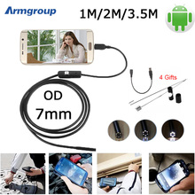 Endoscope 7mm USB Android Camera Mini Endoscopio Camera OTG Inspection IP67 Android Phone and PC Borescope Endoskopik Camera