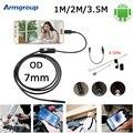 Endoscopio 7mm Cámara OTG USB Android Cámara Mini Endoscopio IP67 Teléfono Android y PC Endoskopik Boroscopio Cámara de Inspección