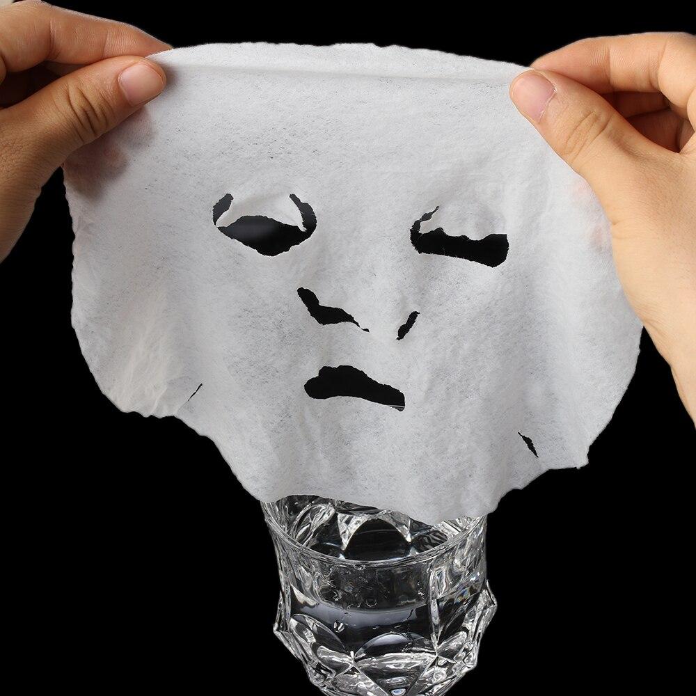 50 шт. профессиональная сжатая натуральная маска для лица, хлопковая маска для лица, лист, DIY маска для лица, бумага для макияжа, инструменты для очистки лица, инструменты для ухода