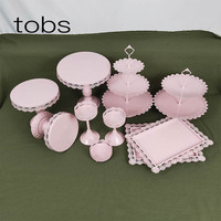10pcs Thin Plate Wedding Decoration With Crystal Cupcake Display 3 Tier Metal cake stand