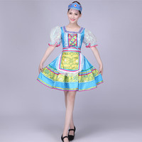Russian Women Traditional Costume Dress Traditional dance costume dresses Kawaii princess stage performance clothing 092302