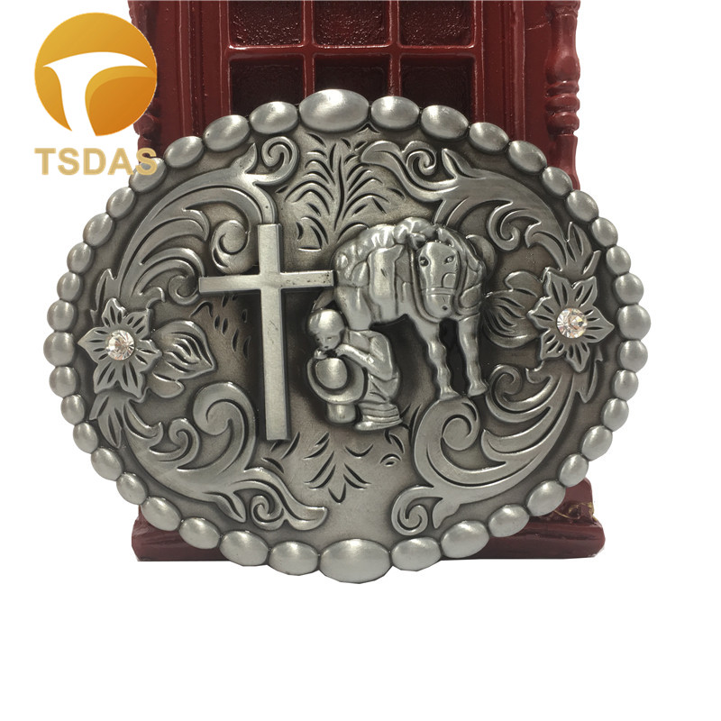 Mens Designer Metal Belt Buckles With West Cowboy Cross Metal Belt Buckle Head For 4cm 1