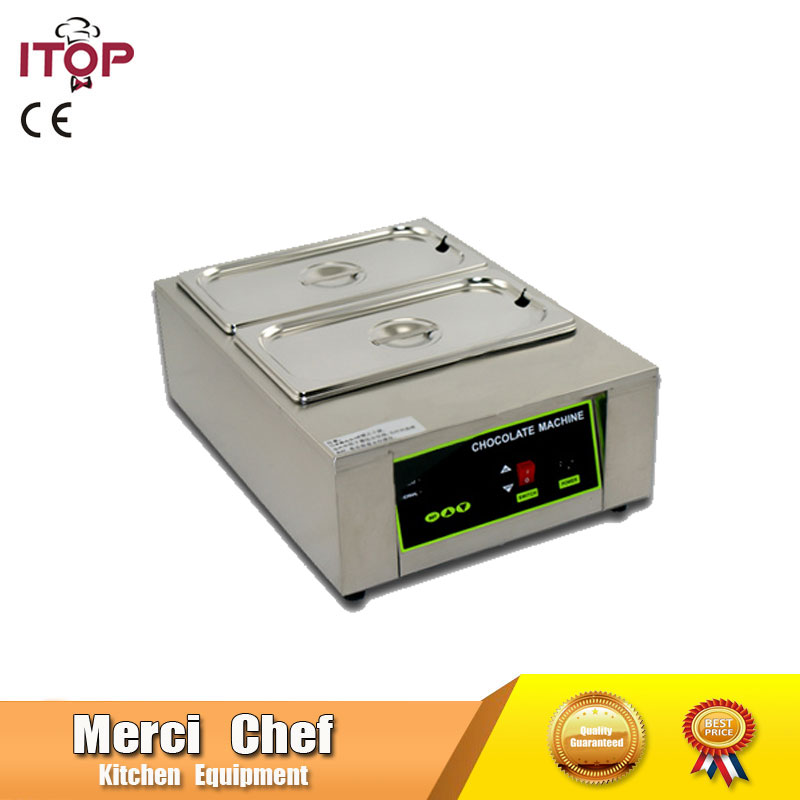 Food Machine Digital Chocolate Melting Machine Stainless Steel Chocolate Machine With 2 Pans Household and Commercial Machine fast shipping food machine digital chocolate melting machine stainless steel chocolate machine household and commercial