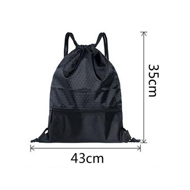 2019 Newest Hot Man Women Polyester String Drawstring Back Pack Cinch Sack Gym Tote Bag School Sport Bag 5