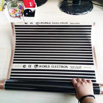 8m2 280W/m2 220V Electric electric infrared film temperature low electrical carbon heating film warm floor heating mat