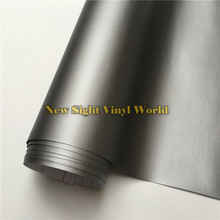 Alta Calidad Mate Gris Rollo de Película de Vinilo Coche Envoltura Gunmetal gris Mate Abrigo Del Vinilo de la Burbuja Libre Para Car Styling Tamaño: 1.52*30 m/Roll