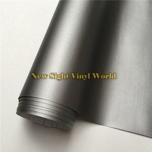 Image 1 - High Quality Matt Grey Vinyl Film Roll Car Wrap Gunmetal Grey Matte Vinyl Wrap Bubble Free For Car Styling Size: 1.52*30m/Roll