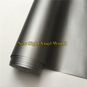 Image 1 - Wysokiej jakości matowa szara folia winylowa rolka Car Wrap Gunmetal szary matowy Vinyl Wrap bez pęcherzyków do stylizacji samochodów rozmiar: 1.52*30 m/rolka