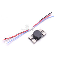 Ultra Big Sound 110db BB Buzzer 14MM High BB Ring w/4 WS2812 Programmable LED Light Lamp Bead For F3 F4 F7 FC FPV Racing Drone(China)