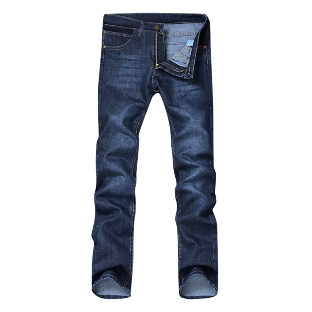 1PC men pants Men's Casual Autumn Denim Solid Cotton Hip Hop Loose Work Long Trousers   Jeans   Pants men cotton Daily c0413